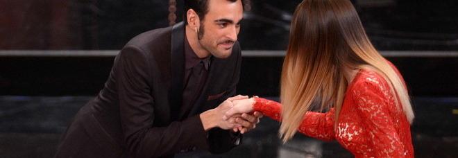 Marco Mengoni con Bianca balti (foto Fabio Ferrari - LaPresse)