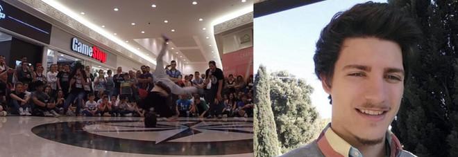 Stefano Maso durante la sua esibizione di breakdance