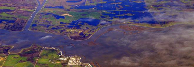 Allarme subsidenza: il delta del Po sprofonda di 2 centimetri all'anno