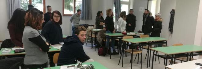 Nove classi del Tarantelli sono state trasferite nelle nuove aule di via Prati