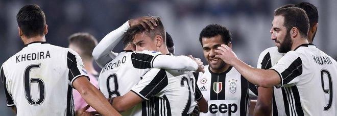 Juve, tutto facile: poker al Palermo. In gol Marchisio e Higuain, doppio Dybala