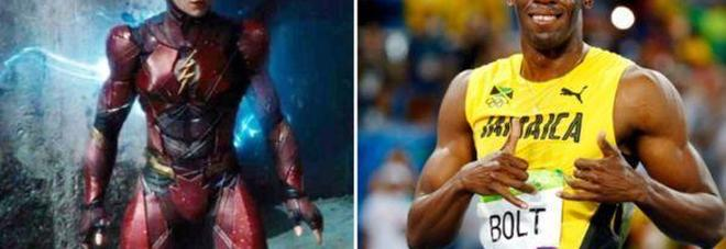 Il personaggio di Flash e Usain Bolt