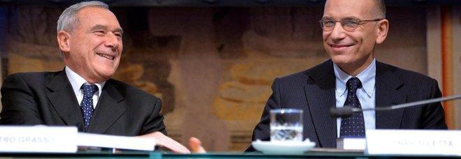 Il presidente Grasso con il premier Letta(Foto