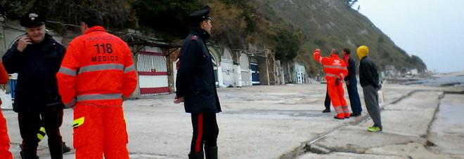 I vigili del fuoco in via Panoramica