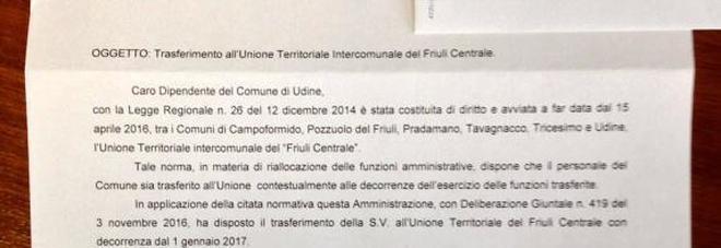 Il sindaco scrive ai dipendenti  «Passate all'Uti, riforma storica»