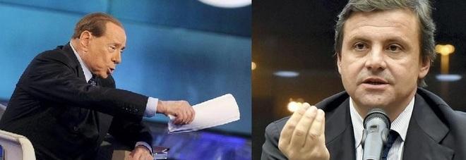 Silvio Berlusconi e il ministro Carlo Calenda