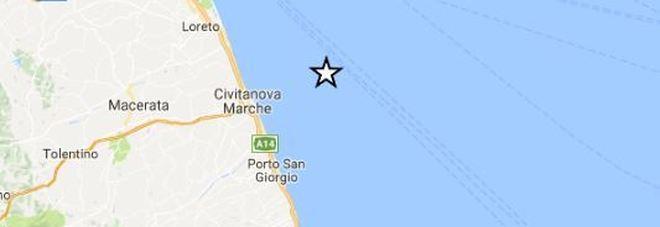 Terremoto, trema anche la costa: scossa magnitudo 2.5 al largo di Civitanova