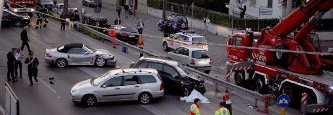 Il luogo dell'incidente a Padova (Candid Camera)