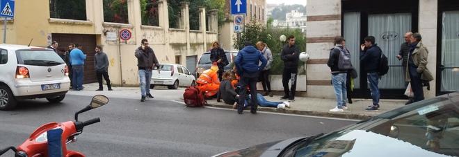 Undicenne travolto su corso Matteotti da un'auto: portato in ospedale