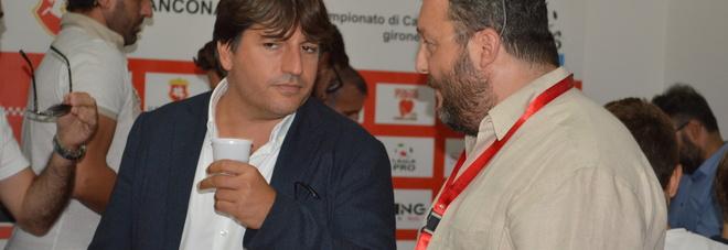 Fabiano Ranieri e David Miani durante una conferenza stampa