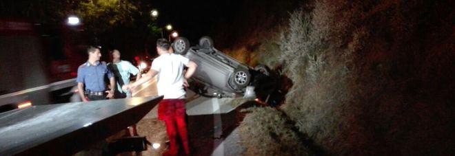 L'auto incidentata alla Vedova