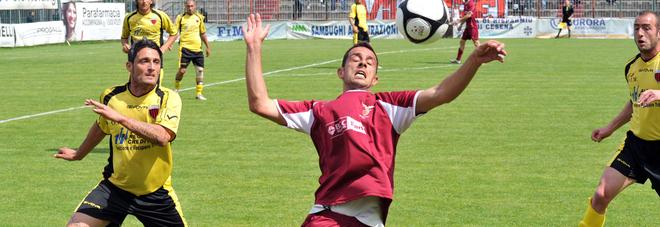 L'argentino Jorge Sebastian Baratteri quando giocava in C2 con il Fano
