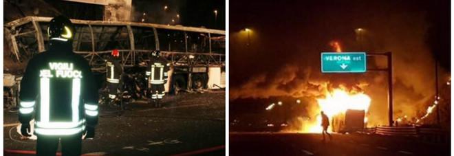 Bus di ragazzi ungheresi in fiamme sull'A4: 16 morti tra i 14 e i 18 anni