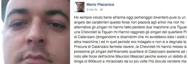 """""""Diventerò un angelo"""". Placanica, il carabiniere che uccise Giuliani, minaccia il suicidio su Fb"""