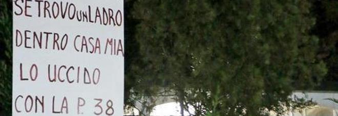 Subisce 5 furti e mette il cartello:  «Se trovo un ladro in casa lo uccido»