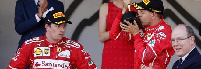 Le due Ferrari davanti a tutti a Montecarlo
