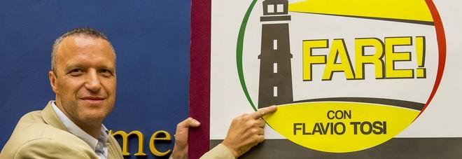 Flavio Tosi a Verona e il logo del suo movimento