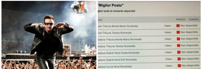 U2 a Roma, biglietti esauriti in pochi minuti: scoppia nuovo caso Coldplay