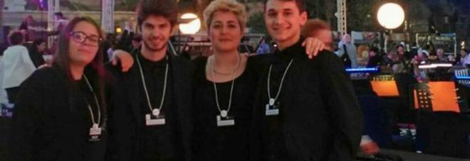 I musicisti Pirrotta, Goss, Martellucci e D'Orazi si sono esibiti a Dubai con Bocelli