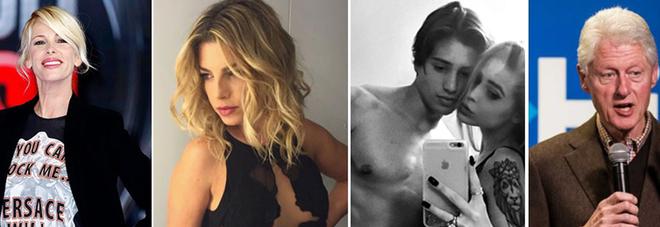 Il cast dell'Isola, nuovo flirt per Emma? Bettarini Jr testimonial, Clinton vacanze da single