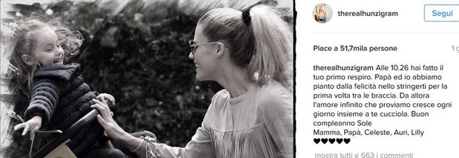 """Michelle Hunziker e il compleanno di Sole: """"L'amore infinito cresce ogni giorno insieme a te"""""""