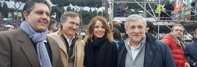 Il sindaco di Venezia con Elisabetta Gardini, Tajani e Toti al Family Day