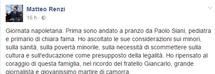"""Renzi in incognito a Scampia: """"Giornate come questa ti aiutano a crescere"""""""