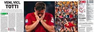 «Veni, vici, Totti»: la stampa internazionale celebra il capitano