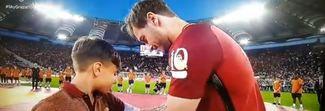 Totti ha scelto il suo erede: Mattia, il bimbo con la fascia da capitano