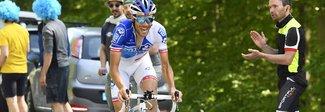 Pinot vince ad Asiago, Nibali è terzo Quintana in rosa, ora decide la crono