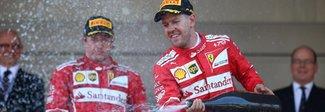 Gp Montecarlo, trionfo Ferrari.  Vettel: «Fantastico weekend».  Raikkonen: «Non è una bella sensazione»