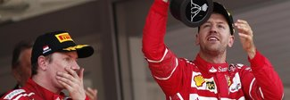 Vettel: «Fantastico week end». Raikkonen: «Il 2° posto non è una bellissima sensazione»