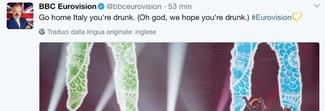 «Italia sei ubriaca», il tweet degli inglesi contro Gabbani. E gli italiani rispondono così