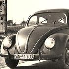 Un'immagine storica del Maggiolino Volkswagen