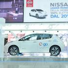 Una Nissan Leaf nuovo shuttle a Fiumicino per far decollare la mobilità elettrica