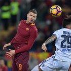 Roma-Cagliari, Dzeko: «Visto? Non sono così molle...»