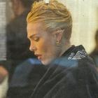 Ilary Blasi dal parrucchiere