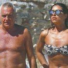 Giorgio Panariello con la fidanzata Claudia Maria Cappellini