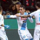 Milan-Napoli 1-2: Insigne e Callejon agganciano la Roma al secondo posto