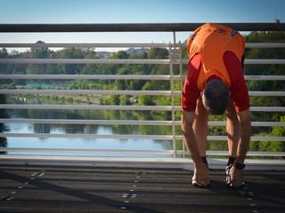 Stretching sul Tevere dal Ponte della Musica