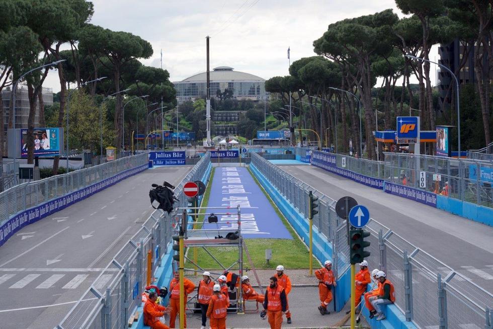 Gran Prix formula E Roma Eur in attesa delle prove ufficiali