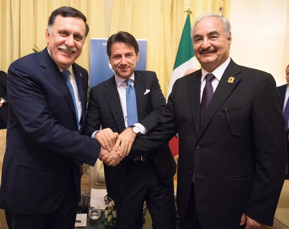 Libia, è pace tra Sarraj e Haftar. Conte: «Un successo per l'Italia» | Il Mattino