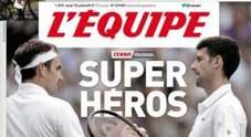 Wimbledon, la stampa mondiale celebra Djokovic e Federer