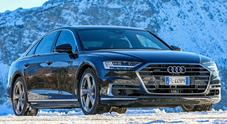 Avanguardia tecnica: l'avveniristica Audi A8 si trasforma nella regina delle Alpi