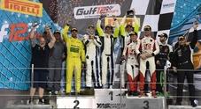 Valentino Rossi alla 12 Ore di Abu Dhabi: sulla Ferrari 488 GT3 vince la sua categoria ed è 3° in assoluto