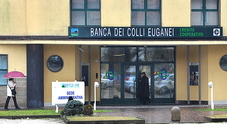 la sede amministrativa della banca dei Colli euganei di Lozzo