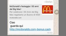 Occhio al finto coupon McDonald's: se cliccate dati personali a rischio