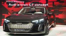 E-tron gt, la sportiva elettrica di Audi ruba la scena a Los Angeles. Concept traccia la rotta del futuro dei Quattro Anelli