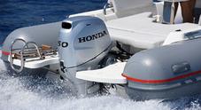 Honda a Genova con auto e motori hi-tech. Concept fuoribordo ispirato alla supercar NSX