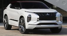 Mitsubishi GT-PHEV Concept, il Suv del futuro ha 4 motori e tanta autonomia